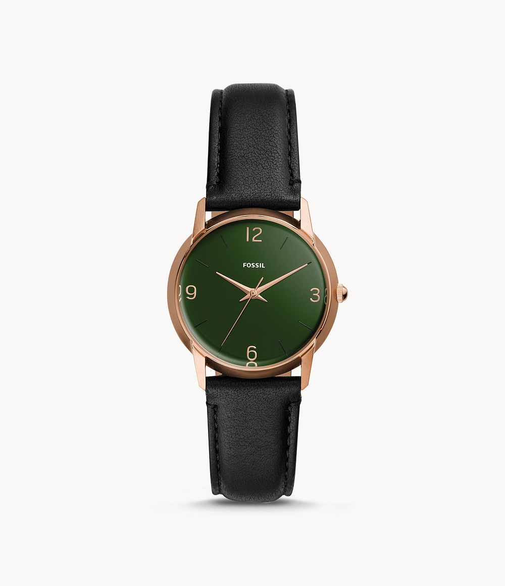 The Archival Series Mood Watch Three-Hand Black Leather Watch - LE1066 -  Fossil