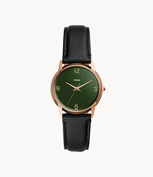 Damenuhr The Archival Series Mood Watch Leder Schwarz