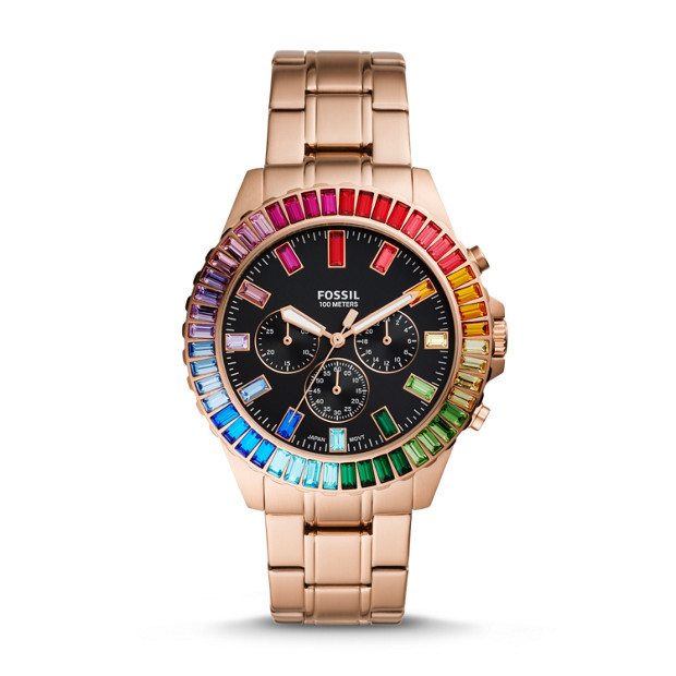 Limited Edition Garrett Chronograph Rose Gold Tone Stainless Steel Watch by Fossil