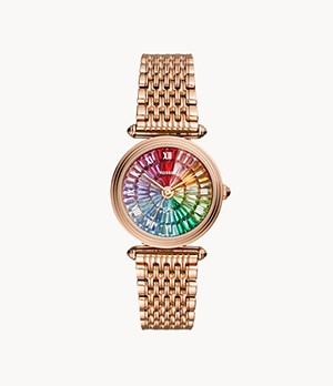 Limited Edition Lyric Three-Hand Rose-Gold-Tone Stainless-Steel Watch
