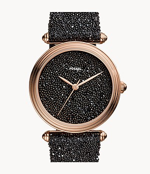 Limited Edition Lyric Three-Hand Black Fabric Watch