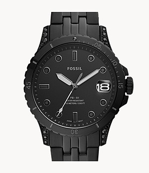 Limited Edition FB-01 Three-Hand Black Stainless-Steel Watch