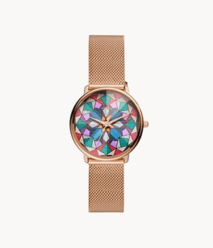 Limited Edition Prismatic Kaleido Three-Hand Rose-Gold-Tone Stainless-Steel Watch