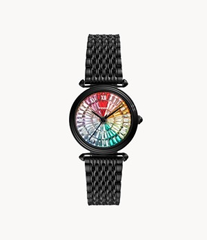 Limited Edition Lyric Three-Hand Black Stainless-Steel Watch