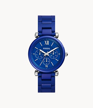 Limited Edition Carlie Multifunction Blue Ceramic Watch