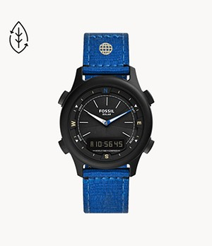 Limited Edition Solar Digital Blue RPET Watch