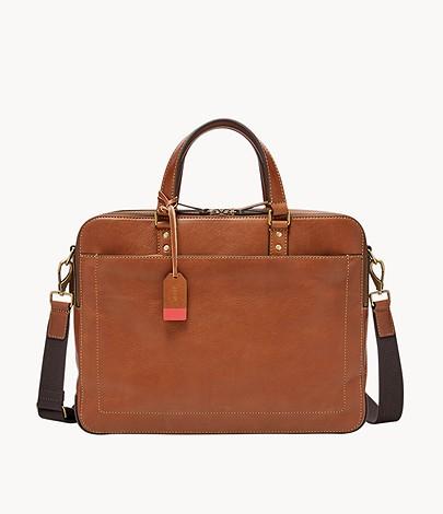 fossil herren tasche defender double zip workbag