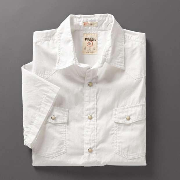 Short Sleeve Western Solid