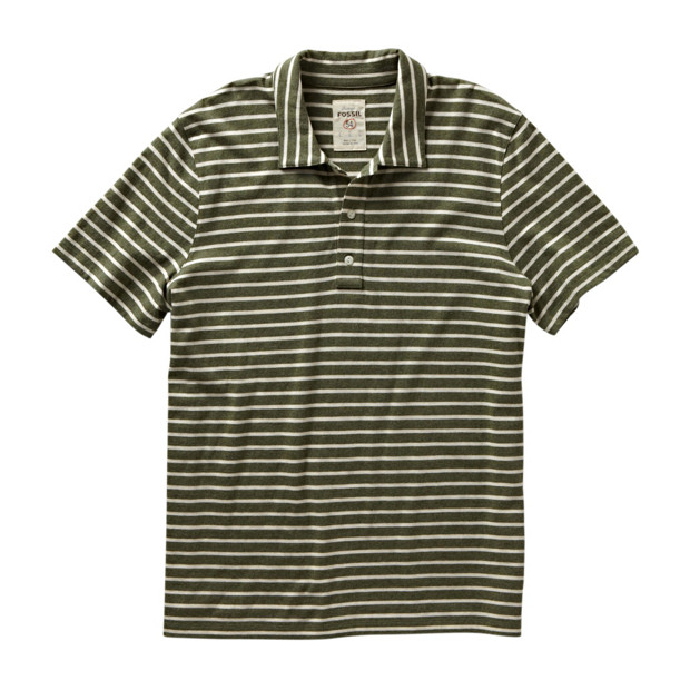 Stripe Knit Polo