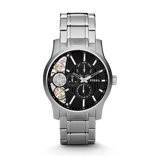 Mechanical Twist Stainless Steel Watch - Black