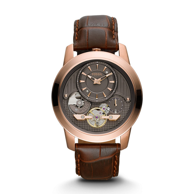 Grant Twist Brown Leather Watch