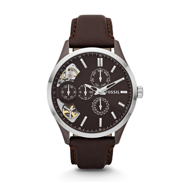 Dress Twist Leather Watch - Brown