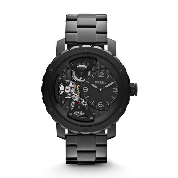 Nate Twist Black Stainless Steel Watch