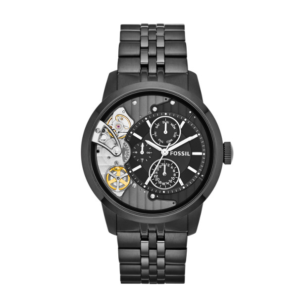 Townsman Multifunction Black Stainless Steel Watch