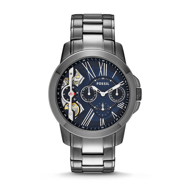 Grant Twist Multifunction Smoke Stainless Steel Watch