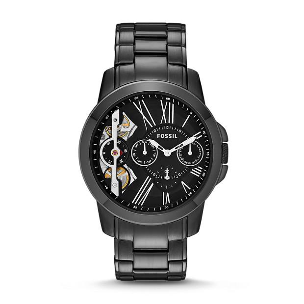 Grant Twist Multifunction Black Stainless Steel Watch