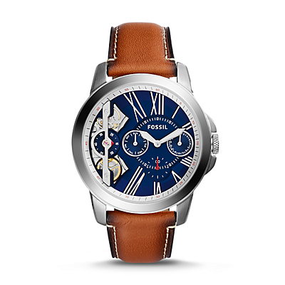 Grant Twist Three-Hand Luggage Leather Watch