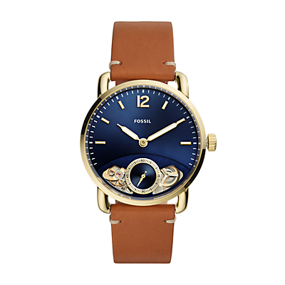 The Commuter Twist Luggage Leather Watch
