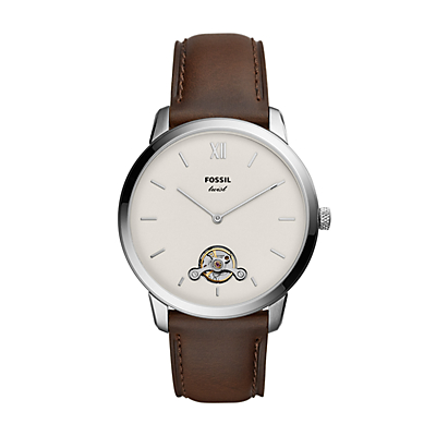 Neutra Twist Brown Leather Watch