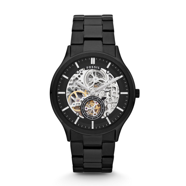 Ansel Automatic Stainless Steel Watch – Black