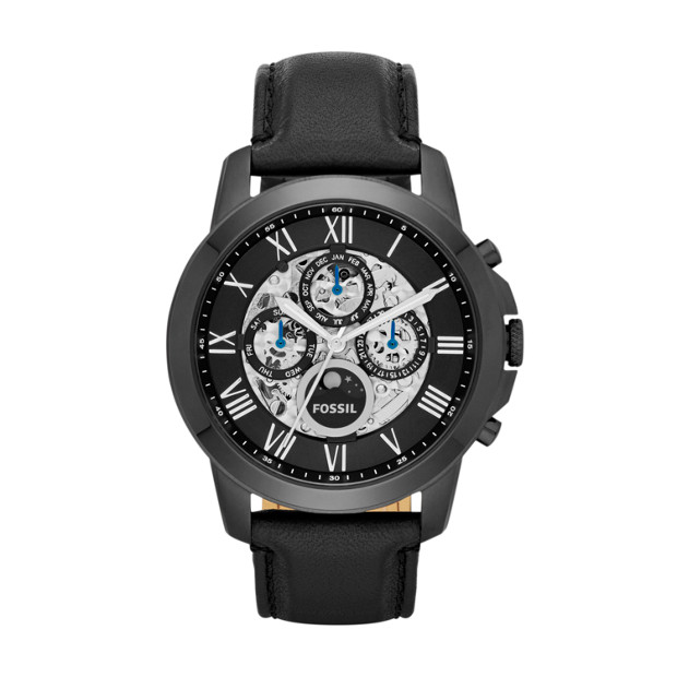 Grant Automatic Black Leather Watch