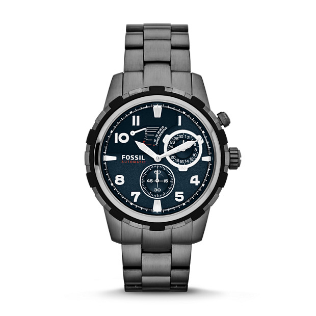 Dean Automatic Stainless Steel Watch - Smoke