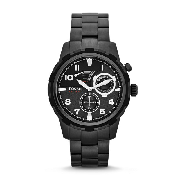 Dean Automatic Stainless Steel Watch - Black