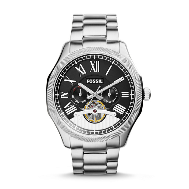 Foreman Multifunction Automatic Stainless Steel Watch