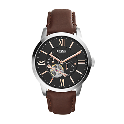 Townsman Automatic Leather Watch - Brown
