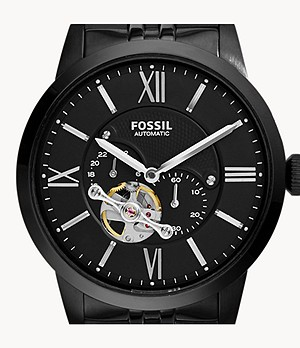 Townsman Automatic Stainless Steel Watch Black