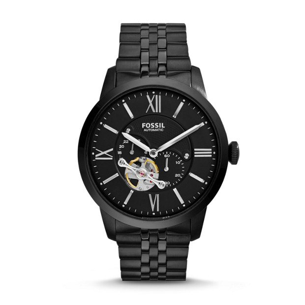 Townsman Automatic Stainless Steel Watch – Black
