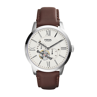 Townsman Automatic Brown Leather Watch