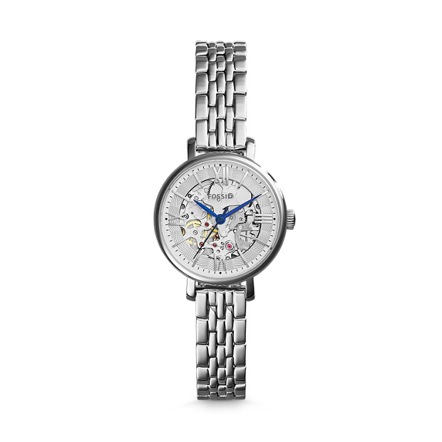 Jacqueline Mini Mechanical Stainless Steel Watch