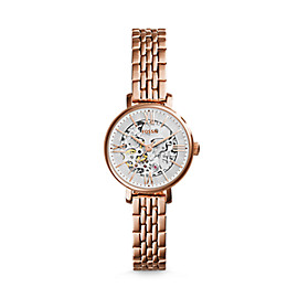 Jacqueline Mini Mechanical Rose-Tone Stainless Steel Watch