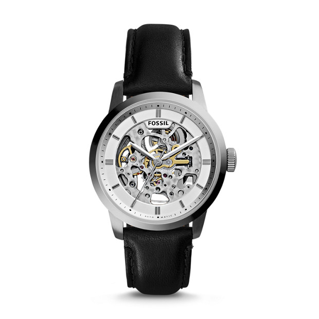 Townsman Automatic Black Leather Watch