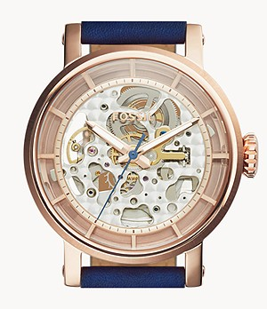 Montre Original Boyfriend automatique en cuir Bleu