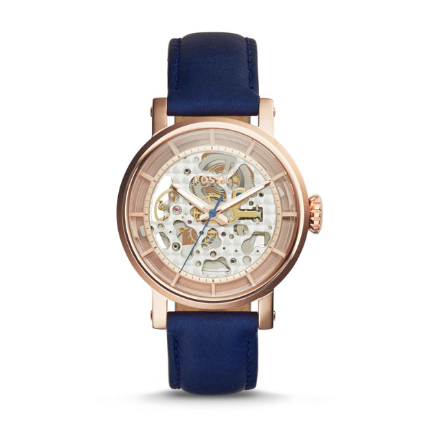 Original Boyfriend Automatic Navy Leather Watch