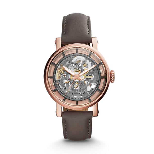 Original Boyfriend Automatic Grey Leather Watch
