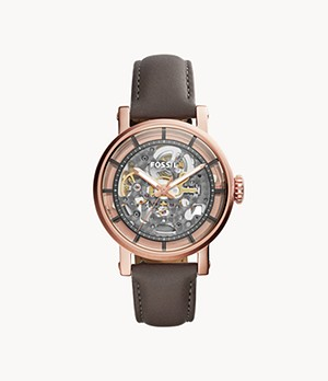 Montre Original Boyfriend automatique en cuir gris