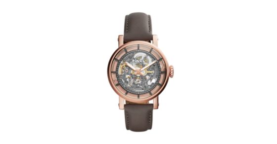 Original Boyfriend Automatic Gray Leather Watch