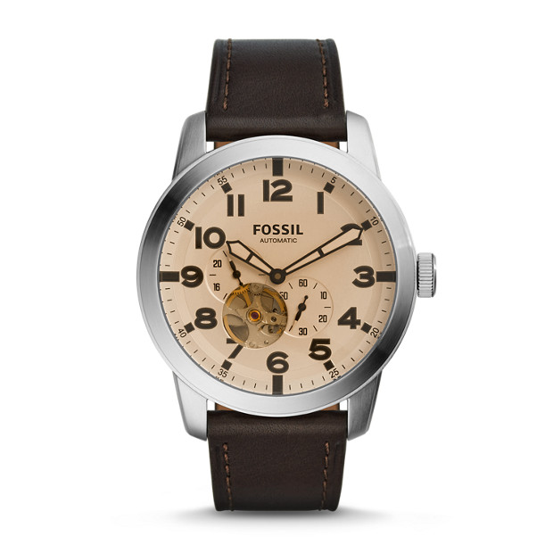 Pilot 54 Automatic Dark Brown Leather Watch
