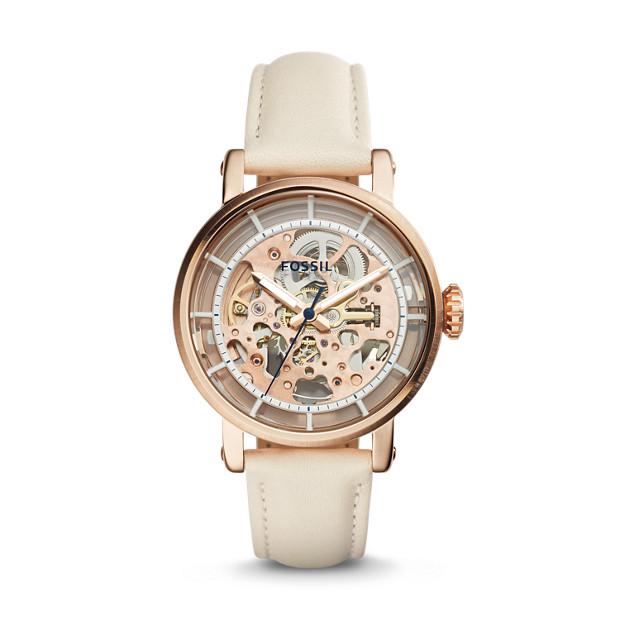 Original Boyfriend Mechanical Sport Automatic White Leather Watch