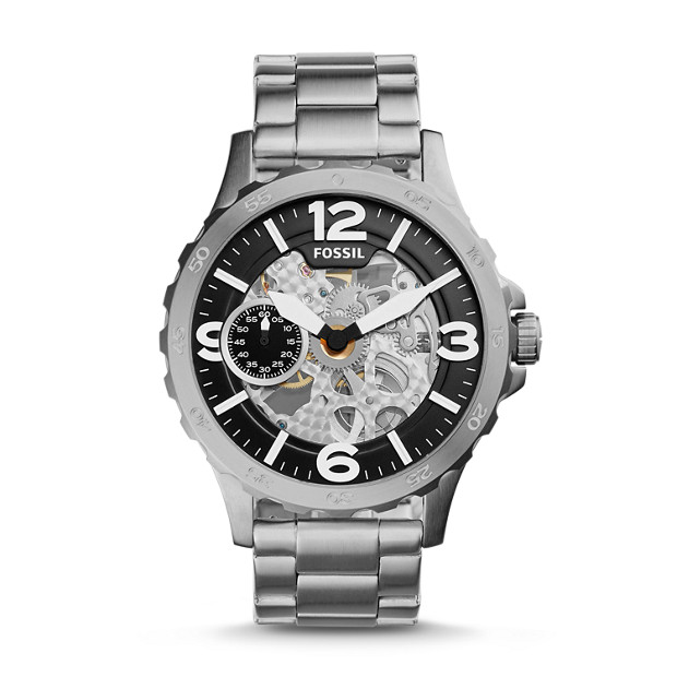 Nate Hand-Wound Mechanical Stainless Steel Watch