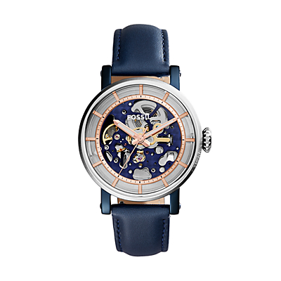 Original Boyfriend Automatic Blue Leather Watch