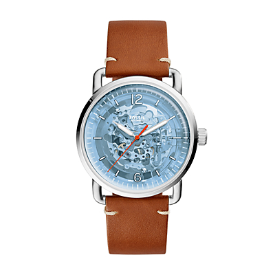 The Commuter Automatic Luggage Leather Watch