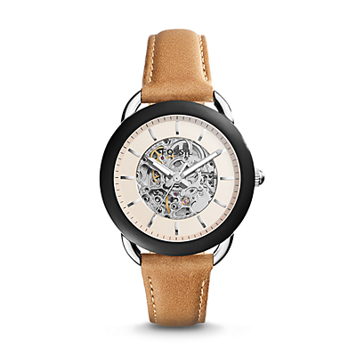 Tailor Automatic Tan Leather Watch