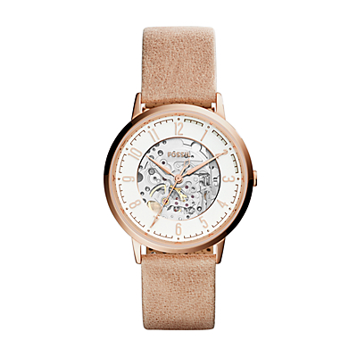 Vintage Muse Automatic Sand Leather Watch
