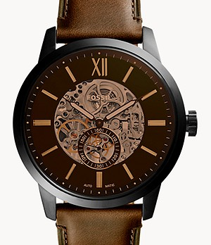 Townsman 48 mm Automatic Brown Leather Watch
