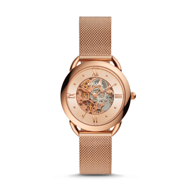 Fossil TAILOR ME3165P MECHANICAL ROSE GOLD-TONE STAINLESS STEEL WATCH
