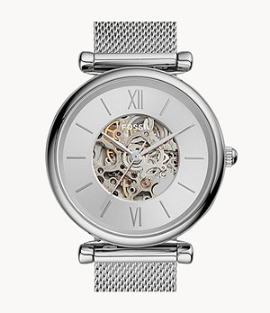 Montre Carlie automatique en maille milanaise inoxydable